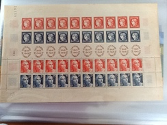 FEUILLE COMPLETE DE 40 TIMBRES CENTENAIRE DU TIMBRE 1849 - 1949 - Feuilles Complètes