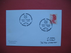 Ste Adresse  1988   Oblitération  Septantieme Anniversaire De La Poste Belge Ste Adresse Pour  Etretat - Poststempel (Briefe)