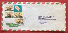 AEROGRAMMA ESTERO-ITALIA DA C.T.T. LOURENÇO MARQUES 2   A  MILANO IN DATA  3/9/71  TEMATICA NAVI VELIERI - Mozambico