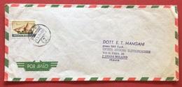 AEROGRAMMA ESTERO-ITALIA DA C.T.T. LOURENÇO MARQUES 2   A  MILANO IN DATA  6/5/71  TEMATICA NAVI VELIERI - Mozambico