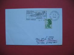Ste Adresse  1988  EMA   Siège Du Gouvernement Belge Pendant La Grande Guerre  Oblitération  Ste Adresse Pour  Etretat - Poststempel (Briefe)
