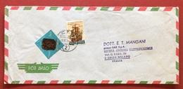 AEROGRAMMA ESTERO-ITALIA DA C.T.T. LOURENÇO MARQUES 2   A  MILANO IN DATA  911/71   TEMATICA NAVI VELIERI - Mozambico