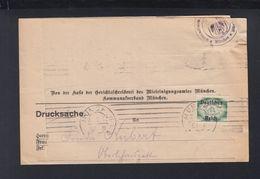 Dt. Reich Drucksache 1922 München - Deutschland