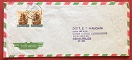 AEROGRAMMA ESTERO-ITALIA DA C.T.T. LOURENÇO MARQUES 2   A  MILANO IN DATA  31/10/71   TEMATICA NAVI VELIERI - Mozambico