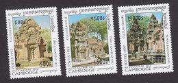 Cambodia, Scott #1621-1623, Mint Hinged, Khmer Culture, Issued 1997 - Cambodja