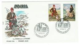 Andorra // FDC // 1979 //  Costumes Traditionnels (2 Lettres) - Andorre Espagnol