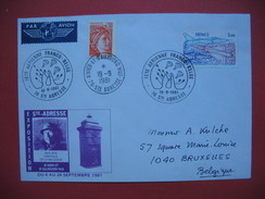 Ste Adresse  1981  Oblitération  Fête Aérienne Franco Belge - D'Hier Et D'aujourd'hui Par Avion - Poststempel (Briefe)