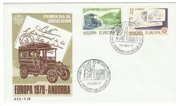 Andorra // FDC // 1979 //  Europa 1979 - Andorre Espagnol