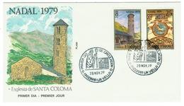 Andorra // FDC // 1979 // Noël 1979 - Andorre Espagnol