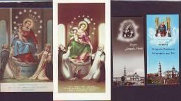 Madonna Del Rosario Di Pompei,  4 Santini Con Preghiera - Religione & Esoterismo