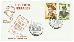 Andorra // FDC // 1980 // Europa 1980 - Andorre Espagnol