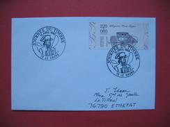 Le Havre  1989 Oblitération  Journée Du Timbre    Pour Etretat - Marcophilie (Lettres)