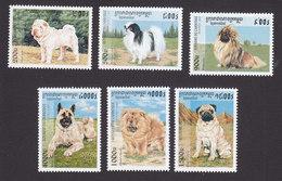 Cambodia, Scott #1638-1643, Mint Hinged, Dogs, Issued 1997 - Cambodia