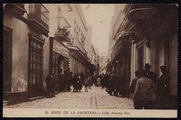JEREZ DE LA FRONTERA - Calle Antonio Vico - édit. Hijas De Justo Martinez - Rare ! - Andere