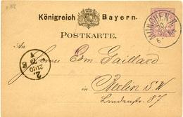 (Lo490)Altdeutschland Ganzs. Bayern St. München N. Berlin - Brieven