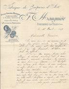 F.Mauguière ,fabrique De Guipures à Fontenois-la-Ville , Haute-Saône ,facture Illustrée De 1899 - 1800 – 1899