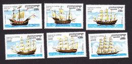 Cambodia, Scott #1648-1653, Mint Hinged, Ships, Issued 1997 - Cambodia
