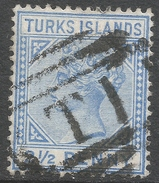Turks Islands. 1889-93 QV. 2½d Used. Crown CA W/M SG 65 - Turks And Caicos