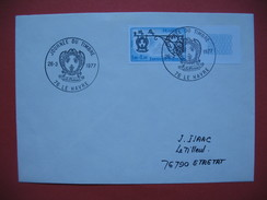 Le Havre  1977 Oblitération  Journée Du Timbre    Pour Etretat - Marcophilie (Lettres)