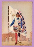 Cartolina Illustrata Anichini G. - Paggi Delle Contrade Storiche Di Siena - ISTRICE - Illustratori & Fotografie
