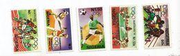 1992 Nigeria Barcelona Olympics  Complete Set Of 5 Football Boxing  MNH - Nigeria (1961-...)