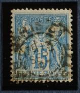Sage N°90.Type II Ob.(CAD) PARIS Rue Lafayette 13 Sept 1897 ( Bur 51) - 1876-1898 Sage (Type II)