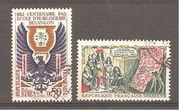 France 1962 Yvert 1342 Au 1343 Oblitérés - France