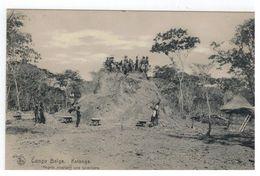Congo  Belge. Katanga Nègres Nivellant Une Termitière (Nels,Bruxelles,Serie 14 N°184) - Congo Belge - Autres
