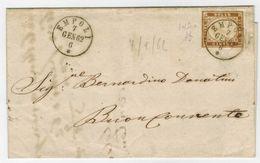 Lettera Da Empoli A Buonconvento 1862 Con 10 Centesimi Sardegna IV Emissione - Sardegna