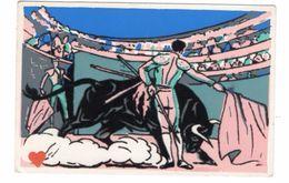 16815-LE-CORRIDA----------carte Non Légendée-------carte Floquée Velours - Corrida