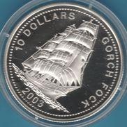 LIBERIA  10 DOLLARS 2003 GORCH FOCK Bateau  Proof Silver (Argent 925/1000) - Liberia