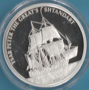PALAU Republic 5 DOLLARS 2004 Tsar Peter The Great's Shtandart  Bateau  Proof Silver (Argent 925/1000) - Palau