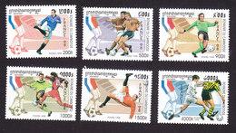 Cambodia, Scott #1700-1705, Mint Hinged, Soccer, Issued 1998 - Cambodja