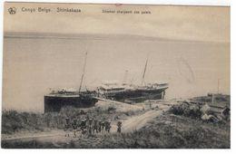 Congo Belge. Shinkaksa. Steamer Chargeant Des Galets (Nels,Bruxelles,Serie 14 N°38) - Congo Belge - Autres