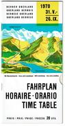 Suisse Oberland Bernois - 31.V Au 26.IX 1970 - Fahrplan / Horaire / Orario / Time Table - Voir Scan - Europe