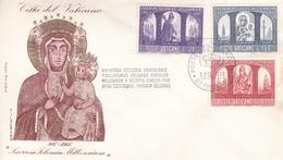 Vatikan FDC/ET 1966, Mi:503+504+506.1000 Jahre Christentum In Polen. Hl. Adalbert, Hl. Stanislav + Madonna V. Tschenst. - FDC