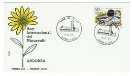 Andorra // FDC // 1981 // Année Internationale Des Personnes Handicapées - Lettres & Documents