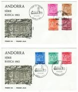 Andorra // FDC // 1981 // Armoiries Des Vallées (2 Lettres) - Lettres & Documents