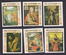 Cambodia, Scott #1714-1719, Mint Hinged, Paintings, Issued 1998 - Cambodge