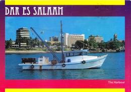 TANZANIA - COLOUR PICTURE POST CARD - COMMERCIALLY SENT TO INDIA - THE HARBOUR, DAR ES SALLAM - Tanzania