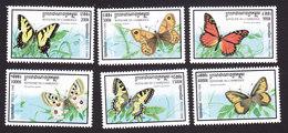 Cambodia, Scott #1721-1726, Mint Hinged, Butterflies, Issued 1998 - Cambodja