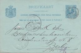 NEDERLAND 1891 - 5 C Ganzsache Auf Pk Gel.v. Amsterdam > Berlin - Briefe U. Dokumente
