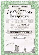 Action Uncirculed - Sté Des Charbonnages De Beeringen - Titre De 1950 - Mines
