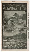 Dépliant Touristique 1906 - Karte Vom Vierwaldstätter-See / Carte Du Lac Des IV Cantons - Horaires Train / Bateaux - - Dépliants Touristiques
