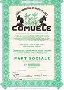 """Action Uncirculed - Sté Commerciale Et Minière De L' Uele """"COMUELE"""" - Titre De 1957 - Afrique"""