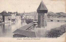 CPA Luzern - Kapellbrücke Und Wasserthurm  (30315) - LU Luzern