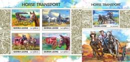 Z08 SRL17717ab SIERRA LEONE 2017 Horse Transport MNH ** Postfrisch Set - Sierra Leone (1961-...)