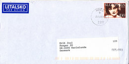 Slovenia Cover Sent Air Mail To Denmark Hoce  25-10-1999 Single Franked - Slowenien