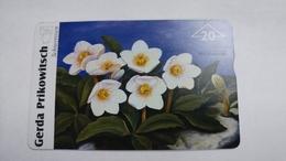"Austria-(f482)-prokowitsch-schneerosen""-(20e)-(912l)-tirage-760-used Card+1 Card Prepiad Free - Autriche"
