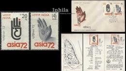 Hand Of Buddha 1972 Indian FDC Folder      Shakyamuni Gautam Buddha Nirvana Buddhism Bodh Gaya Setenant Se-tenant - Budismo